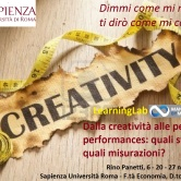Dalla creatività alle peak performances: quali strategie, quali misurazioni? LearningLab MbM a La Sapienza Roma – 6, 20, 27/11/2017