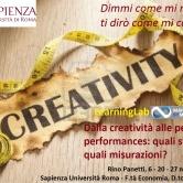 Dalla creatività alle peak performances: quali strategie, quali misurazioni? LearningLab MbM a La Sapienza Roma – 6, 20, 27/11/2017
