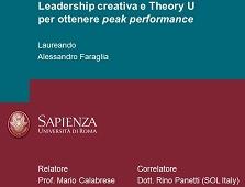 Theory U, Leadership Creativa, Peak Performance. Un'altra tesi di laurea a La Sapienza, con Management by Magic come protagonista